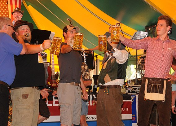 Beer Stein Holding Contest